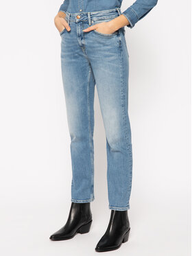 Pepe Jeans Pepe Jeans Jeansy Mary PL203057 Granatowy Straight Fit