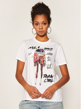 Desigual Desigual T-shirt Viena 20WWTK47 Blanc Regular Fit