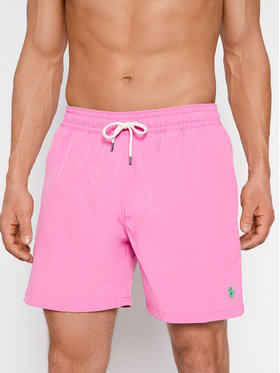Polo Ralph Lauren Polo Ralph Lauren Plavecké šortky Traveler 710829851013 Ružová Slim Fit