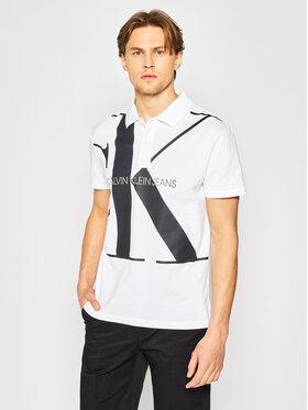 Calvin Klein Jeans Calvin Klein Jeans Polo Upscale Monogram J30J315358 Blanc Regular Fit