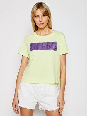 Guess Guess T-shirt Adria W1RI05 JA900 Žuta Regular Fit