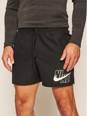 NIKE NIKE Pantaloncini da bagno Logo Lap 5 NESSA566 Nero Standard Fit