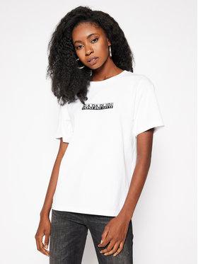 Napapijri Napapijri T-Shirt S-Box Ss NP0A4EYX Biały Regular Fit