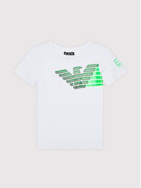EA7 Emporio Armani EA7 Emporio Armani T-Shirt 6KBT60 BJ6EZ 1100 Biały Regular Fit