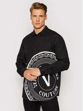 Versace Jeans Couture Versace Jeans Couture Koszula Print V-Emblem 71GAL2R4 Czarny Regular Fit