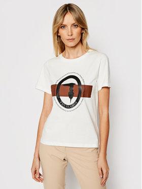 Trussardi Trussardi T-Shirt 56T00328 Biały Regular Fit