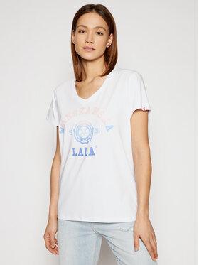PLNY LALA PLNY LALA T-shirt Warszawska Lala PL-KO-VN-00111 Bijela Relaxed Fit