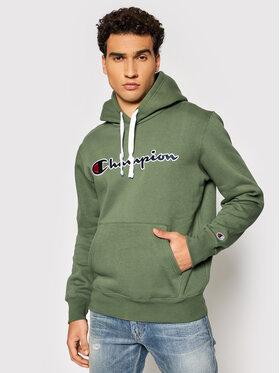 Champion Champion Bluză Blend Script Logo 216470 Verde Comfort Fit