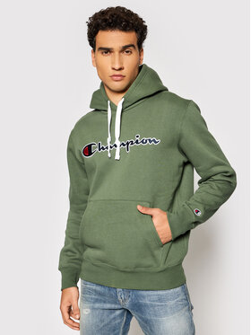 Champion Champion Bluza Blend Script Logo 216470 Zielony Comfort Fit