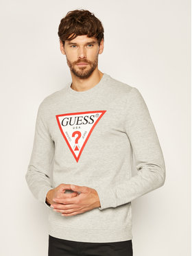 Guess Guess Bluză Audley M0YQ37 K7ON0 Gri Slim Fit