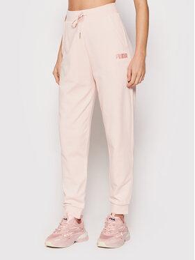 Puma Puma Spodnie dresowe High Waist 589528 Różowy Relaxed Fit