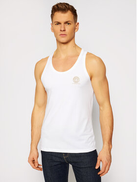 Versace Versace Tank top Medusa AUU01012 Alb Regular Fit
