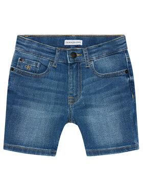 Calvin Klein Jeans Calvin Klein Jeans Džinsiniai šortai IB0IB00770 Tamsiai mėlyna Regular Fit