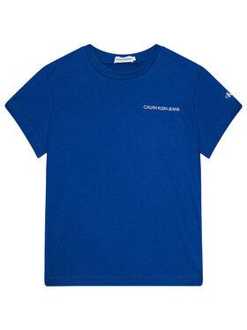 Calvin Klein Jeans Calvin Klein Jeans T-Shirt Chest Logo IB0IB00456 Granatowy Regular Fit