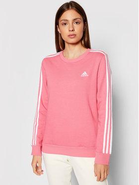 adidas adidas Bluză Essentials 3-Stripes H10193 Roz Standard Fit