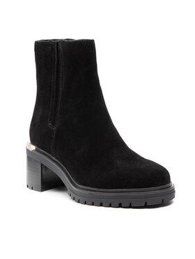 Tommy Hilfiger Tommy Hilfiger Боти Th Outdoor Mid Heel Boot FW0FW05940 Черен
