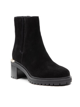 Tommy Hilfiger Tommy Hilfiger Čizme Th Outdoor Mid Heel Boot FW0FW05940 Crna