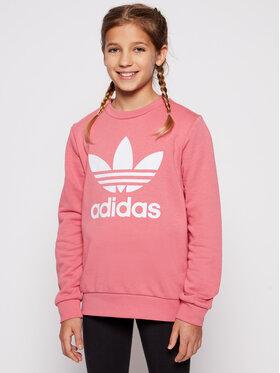 adidas adidas Суитшърт Tefoil GN8253 Розов Regular Fit