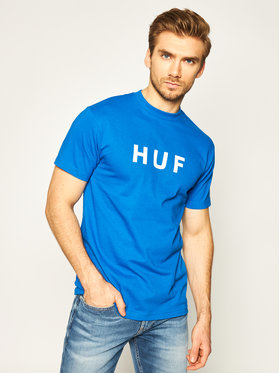 HUF HUF T-shirt Essentials OG Logo TS00508 Bleu Regular Fit