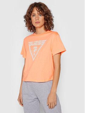 Guess Guess T-shirt Caren O1BA70 JR06Z Narančasta Relaxed Fit