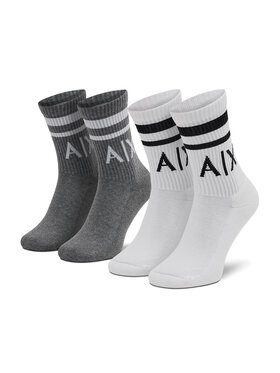 Armani Exchange Armani Exchange 2 pár hosszú szárú unisex zokni 953030 CC650 19310 Szürke