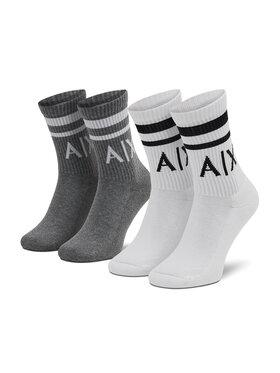 Armani Exchange Armani Exchange Lot de 2 paires de chaussettes hautes unisexe 953030 CC650 19310 Gris