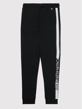 Calvin Klein Jeans Calvin Klein Jeans Spodnie dresowe Institutional Spray IB0IB00922 Czarny Regular Fit