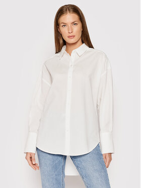 Vero Moda Vero Moda Πουκάμισο Stinna 10250167 Λευκό Loose Fit