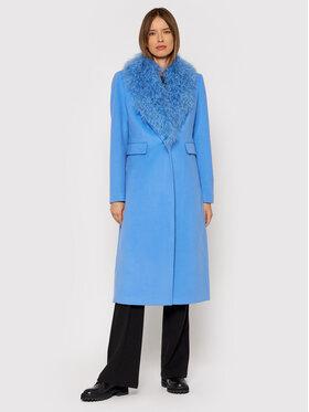 Liu Jo Liu Jo Gyapjú kabát CF1271 T4968 Kék Regular Fit