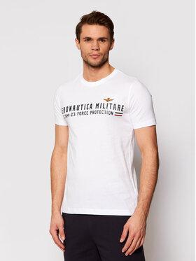 Aeronautica Militare Aeronautica Militare Marškinėliai 211TS1850J511 Balta Regular Fit