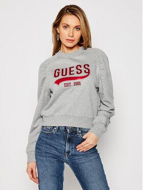Guess Guess Bluza Front Logo W1GQ36 K68I0 Szary Regular Fit