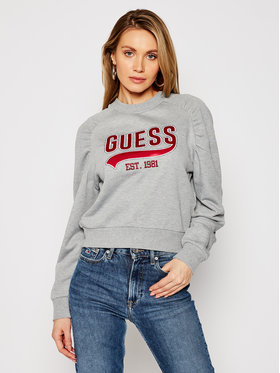 Guess Guess Džemperis Front Logo W1GQ36 K68I0 Pilka Regular Fit