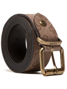 Guess Guess Мъжки колан Vezzola Belts BM7351 VIN35 Кафяв