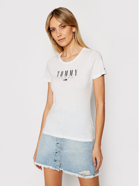 Tommy Jeans Tommy Jeans Тишърт Essential DW0DW09926 Бял Skinny Fit