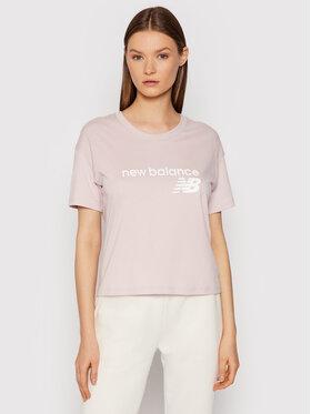 New Balance New Balance T-Shirt WT03805 Różowy Relaxed Fit