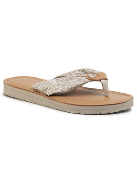 TOMMY HILFIGER TOMMY HILFIGER Σαγιονάρες Th Monogram Flat Beach Sandal FW0FW04808 Μπεζ