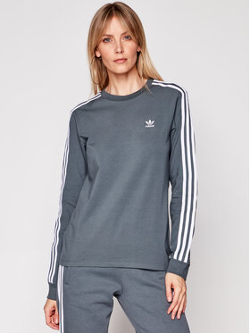 adidas adidas Bluză adicolor Classics GN2959 Gri Regular Fit
