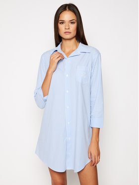 Lauren Ralph Lauren Lauren Ralph Lauren Nachthemd I815197 Blau Regular Fit