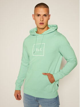 HUF HUF Bluza Essentials Box Logo PF00098 Zielony Regular Fit