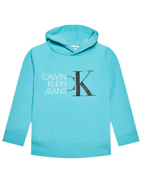 Calvin Klein Jeans Calvin Klein Jeans Mikina Hybrid Logo IB0IB00799 Modrá Regular Fit