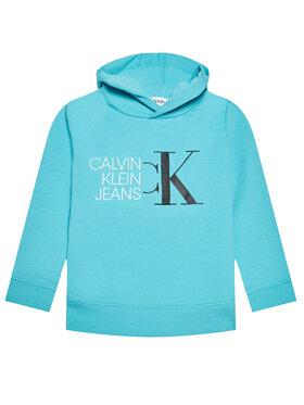 Calvin Klein Jeans Calvin Klein Jeans Pulóver Hybrid Logo IB0IB00799 Kék Regular Fit