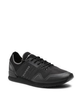 Tommy Hilfiger Tommy Hilfiger Sneakersy Iconic Sock Knit Runner FM0FM03615 Czarny