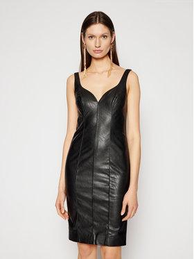 Pinko Pinko Кожена рокля Pudico PE 21 BLK01 1G160W 7105 Черен Slim Fit