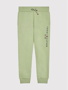 Tommy Hilfiger Tommy Hilfiger Teplákové kalhoty Essential KB0KB05753 D Zelená Regular Fit