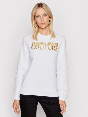 Versace Jeans Couture Versace Jeans Couture Mikina 71HAIT01 Biela Regular Fit