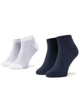 TOMMY HILFIGER TOMMY HILFIGER Sada 2 párů nízkých ponožek unisex 320223001 Tmavomodrá