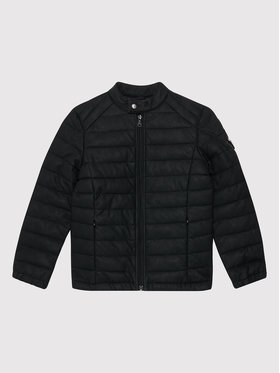 Guess Guess Jacke aus Kunstleder N1RL04 WDN70 Schwarz Regular Fit