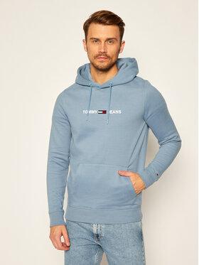 Tommy Jeans Tommy Jeans Bluza Tjm Straight Logo DM0DM08474 Niebieski Regular Fit