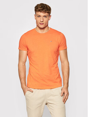 Tommy Jeans Tommy Jeans T-Shirt Jaspe DM0DM09586 Pomarańczowy Slim Fit