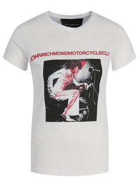 John Richmond John Richmond T-Shirt RWA19251TS Biały Regular Fit